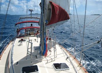 Island Packet 440 Charter in the BVI
