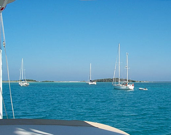 Bareboat class at anchor in the Dry Tortugas