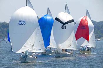 J24s Spinnaker Sailing!